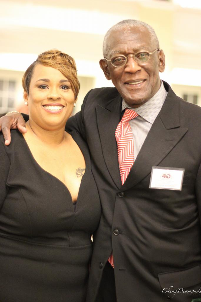 Angela Comfort, Office Manager, African-American Affairs and Former Dean M. Rick Turner,African-American Affairs