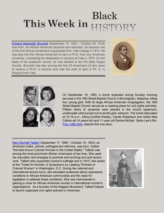 This week in Black History